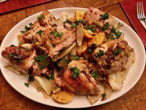 Chicken w/ Clementines & Arak