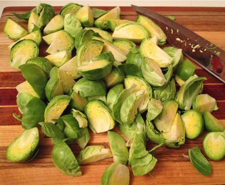 Brussels Sprouts Quartered