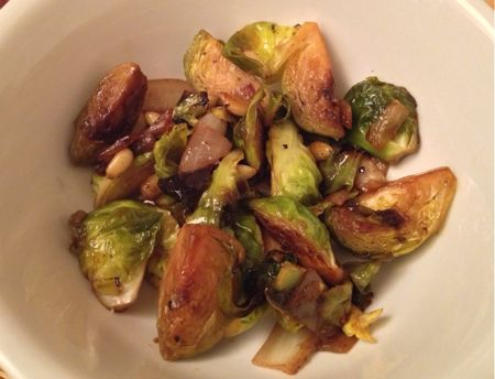 Brussels Sprouts w/ Pine Nuts & Balsamic Vinegar