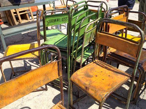 Metal chairs Williamsburg Flea Market