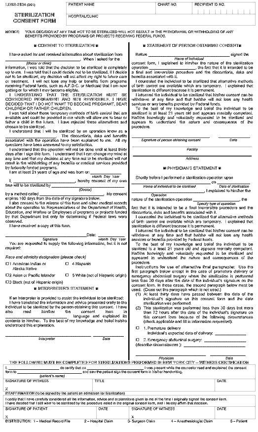 NYSTATE sterilization form